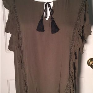 Ana Size Large summer top boho relaxed fit NWT
